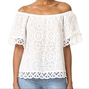 BB Dakota White Off The Shoulder Top